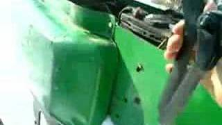 Operating a John Deere 316 Lawn Tractor