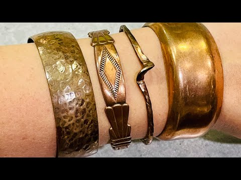 Vintage estate jewelry haul unboxing! Native American copper.