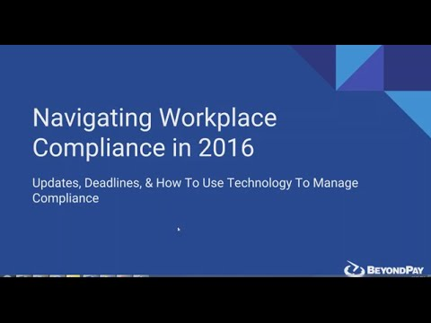 Navigating Workplace Compliance in 2016