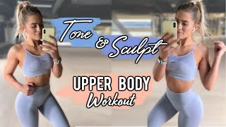 TONE YOUR UPPER BODY WORKOUT FOR WOMEN
