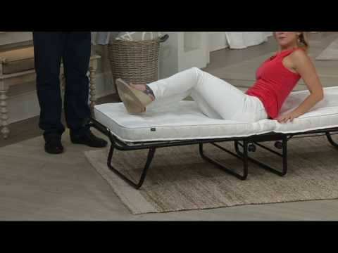 JayBe Fold Away Single or Double Bed with Mattress on QVC