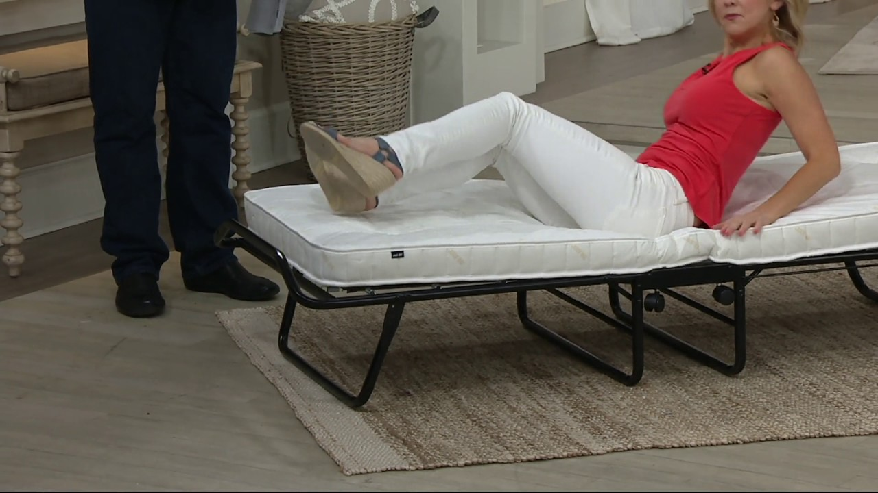 Folding Double Guest Bed With Mattress Jaybe Fold Away Single Or Double Bed With Mattress On Qvc