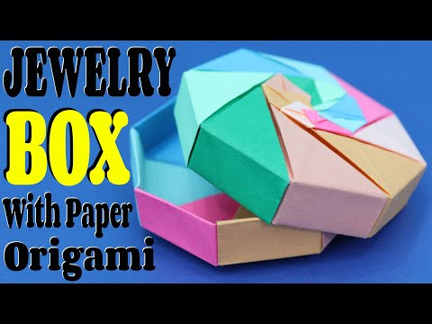 How To Make Jewelry box With Paper (Origami) || Easy & Simple Tutorial || Craftyhood VD # 017