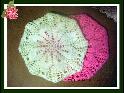 ... ????? ???????? How to knit crochet beret? - YouTube