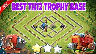 BEST TH12 TROPHY FARMING BASE 2018 w/PROOF   CoC Best Th12 Trophy Base for Legend League