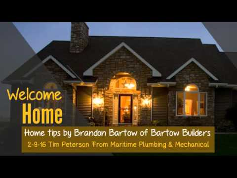 Manitowoc Home Builder Bartow Builders - Welcome Home Podcast (Tim Peterson with Maritime Plumbing)