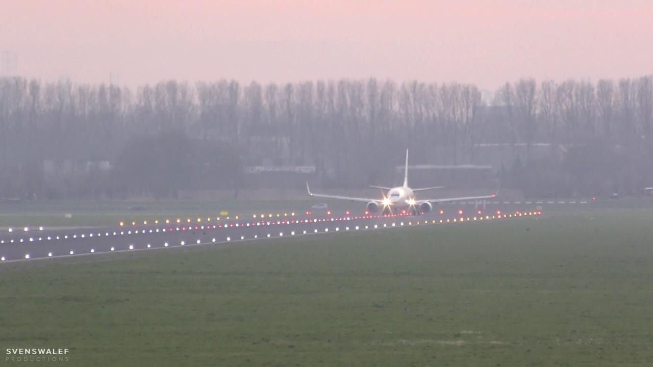 Transavia PH-HZN takeoff Rotterdam Airport to Salzburg HV6781