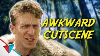 When the cut scene timing is terrible - Awkward Cutscene