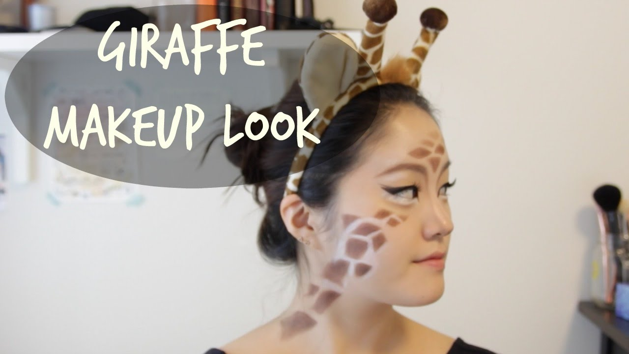 Giraffe Halloween Makeup - YouTube