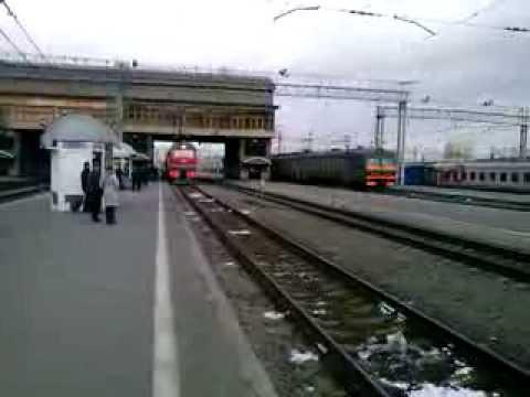 Прибытие ЭП2К-111 с поездом №123 Новосибирск — Белгород на ст.Челябинск-Главный