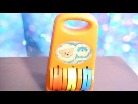 Playskool 1980's Vintage Playskool Music Maker N0. 42 Chicago Illinois Orange Baby Chimes Roller