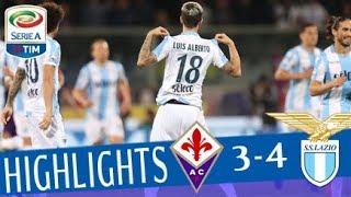 Fiorentina - lazio 3-4 - highlights - giornata 33 - serie a tim 2017/18
