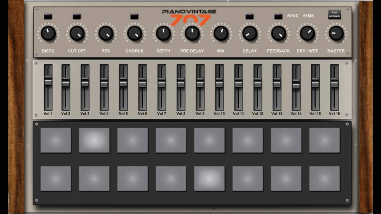 free roland tr 707 rhythm composer drum machine vst emulation youtube. Black Bedroom Furniture Sets. Home Design Ideas