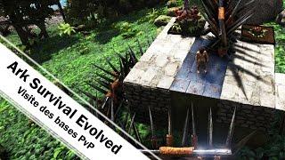 [Ark fr]Visite de la base et du radeau PvP sur serveur officiel! Ark Survival Evolved
