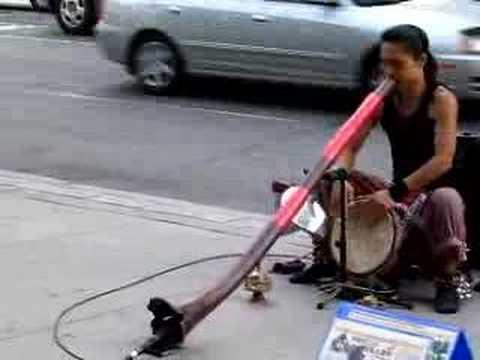 Cosmic Japanese Musician Shibaten in Toronto plays Didgeridoo