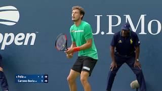 Guido Pella vs. Pablo Carreno Busta | US Open 2019 R1 Highlights