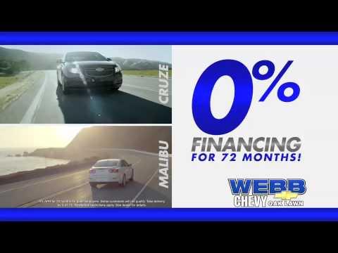 0 Financing For 72 Months Webb Chevrolet Youtube