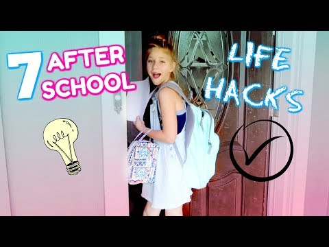 7 AFTER SCHOOL LIFE HACKS! Organization Tips That Will Simplify Your Life!! Back To School Routine!