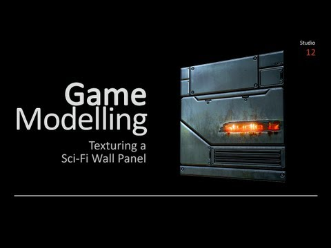 Texturing a Sci-Fi Wall Panel with Adobe Photoshop (Autodesk Maya)