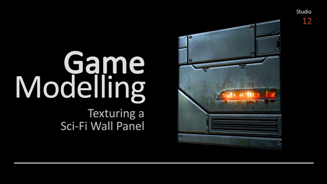 Texturing A Sci Fi Wall Panel With Adobe Photoshop