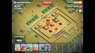 Immovable Object in Clash of Clans 3 stars BEST