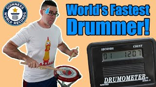 I Attempt 18 Guinness World Records (Fastest Drum Roll, Highest Stick Flip, and More!)