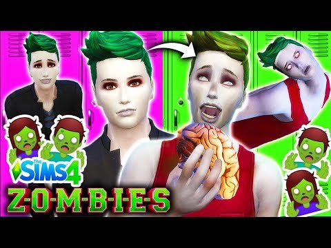 🧟‍♂️Disney ZOMBIES Characters ZOMBIFIED!🧟‍♀️ Sims 4 ZOMBIE Mod 🧠Zombie Brain Food Challenge🧠