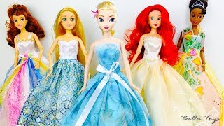 💙DEFILE DE PRINCESSES💙POUPEES BARBIE DISNEY ROBES MODE💙ELSA RAIPONCE ARIEL BELLE TIANA