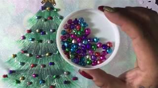 Pintura En Tela Arbolito De Navidad Con Cony
