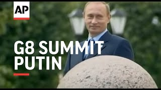 Bush, Blair, Putin at G8 summit, police break up small demo