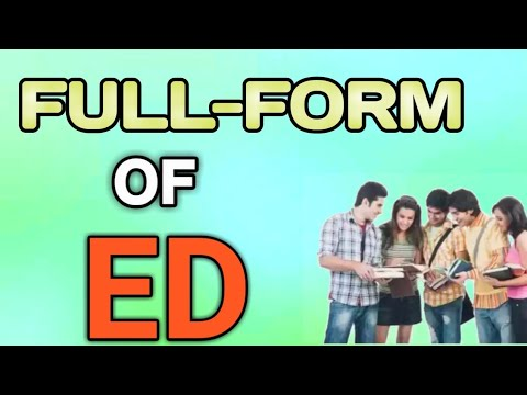 Place To Get Full Forms Full Form Of Ed In Hindi