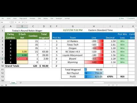sport betting parlay calculator