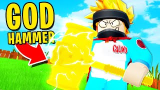 I used a GOD BAN HAMMER and BANNED ALL NOOBS in  Roblox Sizzling Simulator!! (Completed the Game..)