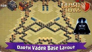 Clash Of Clans: TH9 | TH10 | Fun Base Layout - Darth Vader