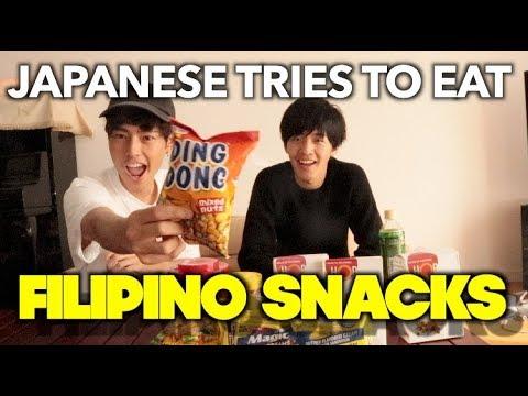 JAPANESE TRIES TO EAT FILIPINO SNACKS!!!!!!!