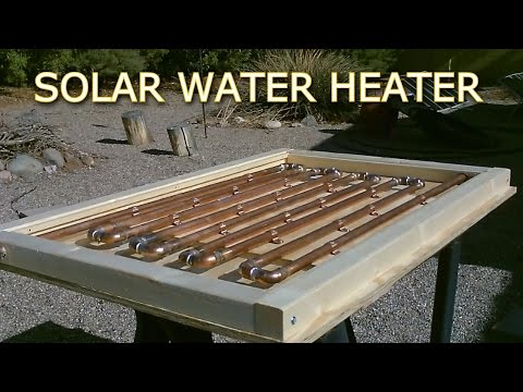 Solar Thermal COPPER PIPE Water Heater! - Easy DIY (full instr.) 150F+