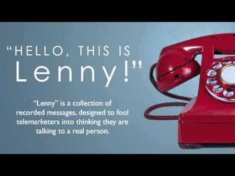 Telemarketer figures out Lenny is a recording, then a car crashes into the telemarketer's office!!