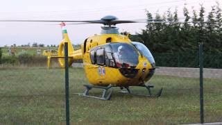 Mentőhelikopter felszállás Martonvásáron