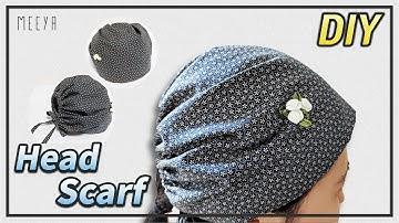김수미두건 쉽게만들기|Making Bandana|DIY|이쁘고세련된두건|Handmade|フード|ผ้าพันคอ|Capuche| غطاء محرك السيارة|Mũ trùm đầu