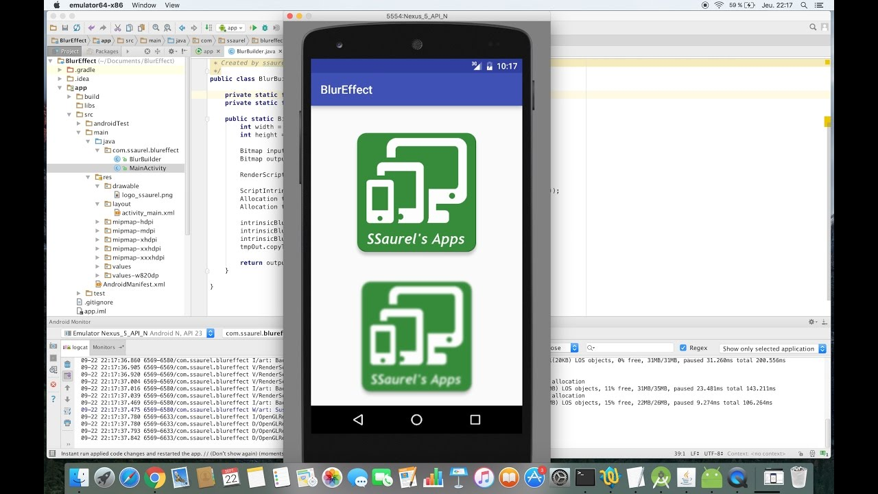 Create a Blur Effect on Android with RenderScript - Sylvain Saurel