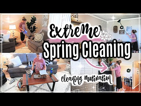 🌸SPRING CLEAN WITH ME 2019 | EXTREME CLEANING MOTIVATION | CLEANING MY HOUSE