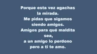 Mi historia entre tus dedos - Sergio Dalma (letra)
