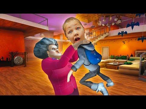 СТРАШНЫЙ УЧИТЕЛЬ ПОЙМАЛ МЕНЯ! Scary Teacher 3D ОСТРЫЙ СОУС на день рождение учителю!