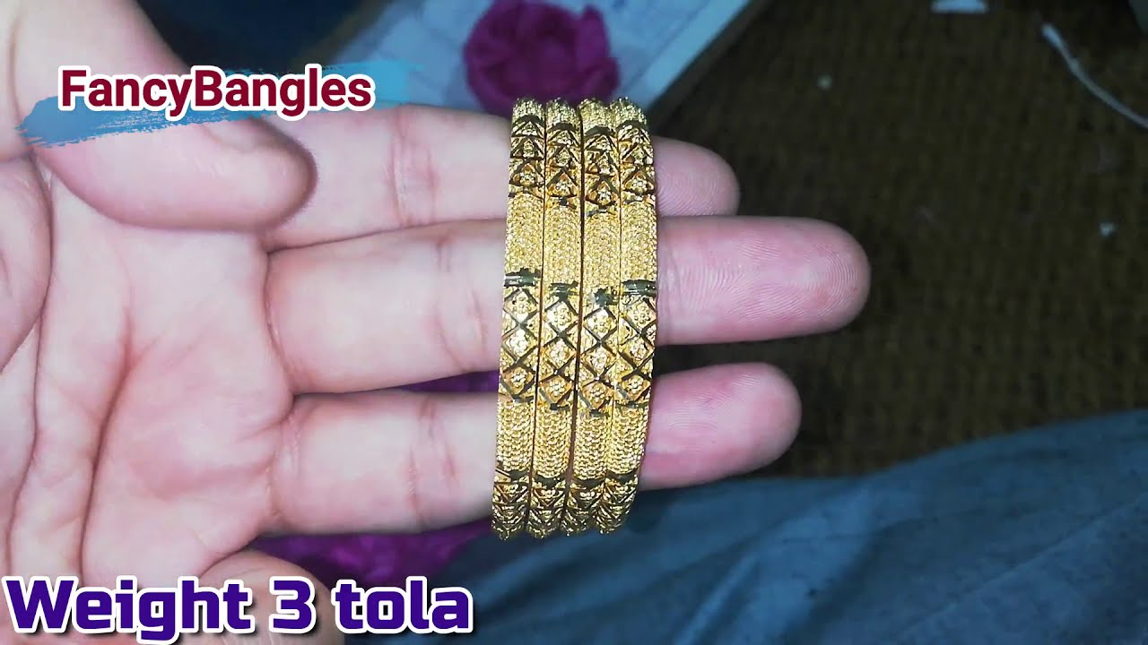 Latest 22k Gold FancyBnagles With Weight For Ladies !! Awesome Collection By FancyBangles
