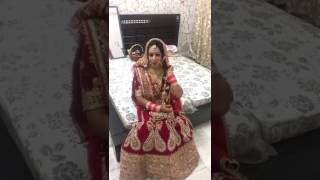 Beautiful Modern Bride Flauless Makup Excited and Hungry
