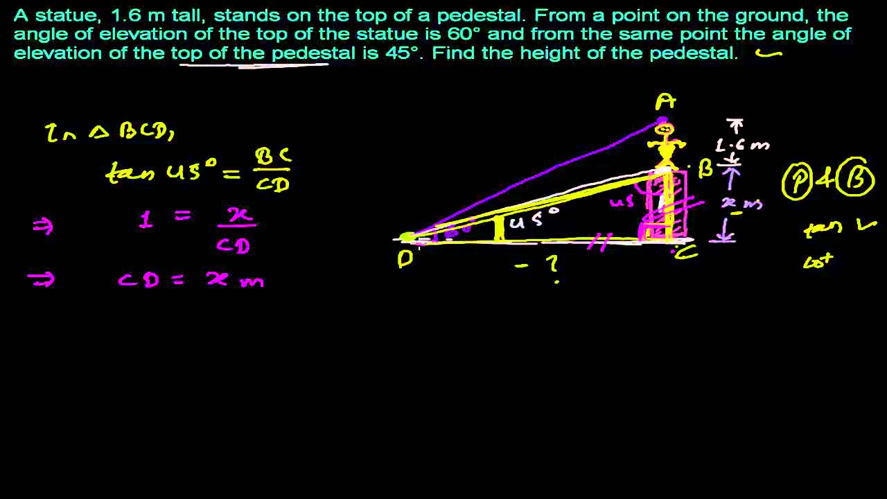 medium resolution of How to Solve Trigonometry Word Problem - Application of Trigonometry -  YouTube