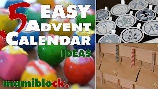 5 Adventskalender Ideen | Easy - Low budget - DIY | advent calendar | mamiblock - Der Mami Blog