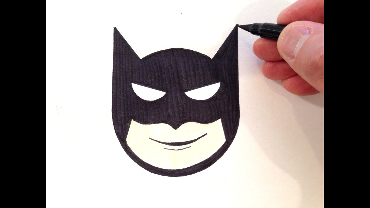 How To Draw A Batman Smiley Face