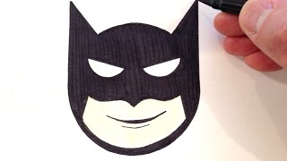 How to Draw a Batman Smiley Face - Easy for Beginners