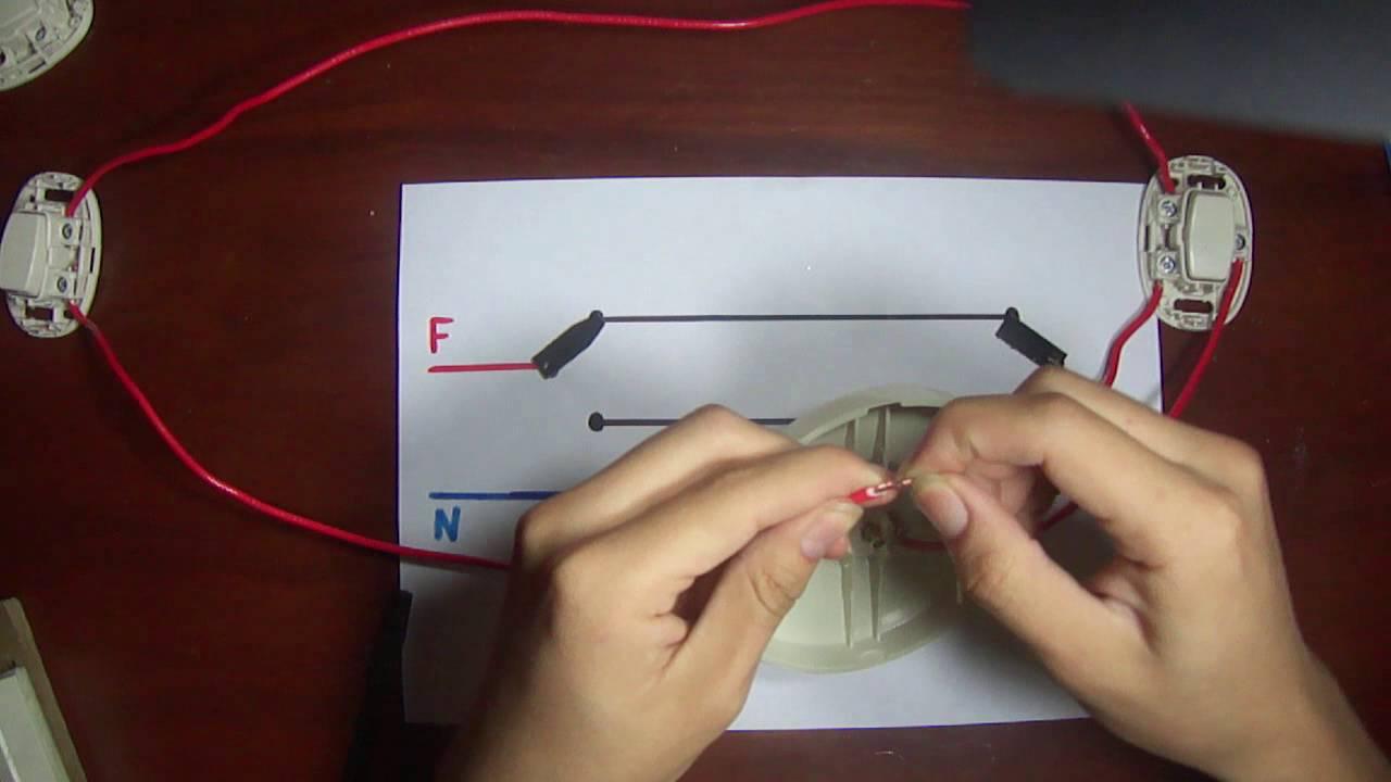 Circuito Electrico Simple Con Interruptor : Como conectar interruptores de conmutación esquema explicación y